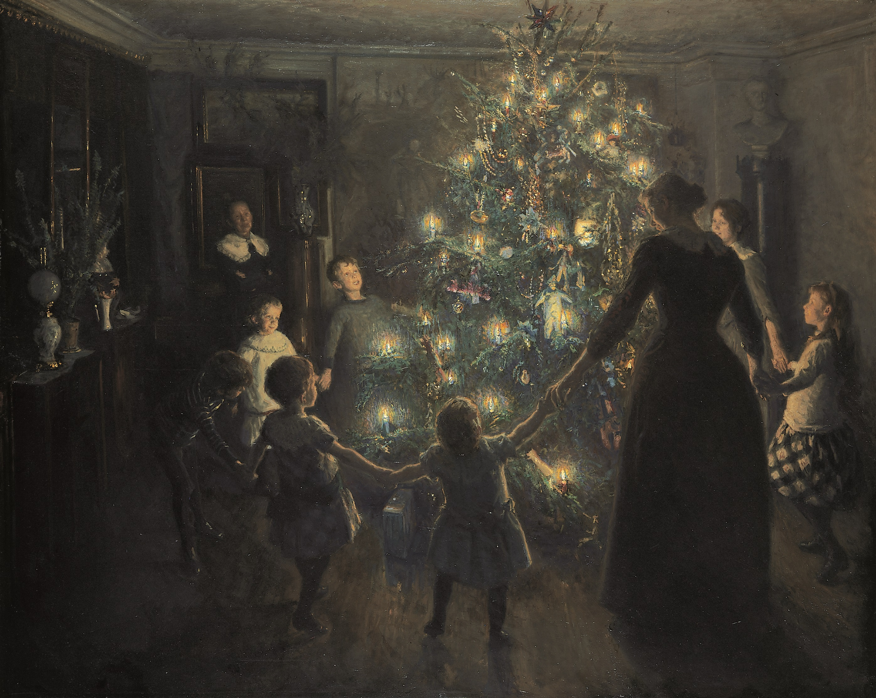 hvornår kom det første juletræ til danmark